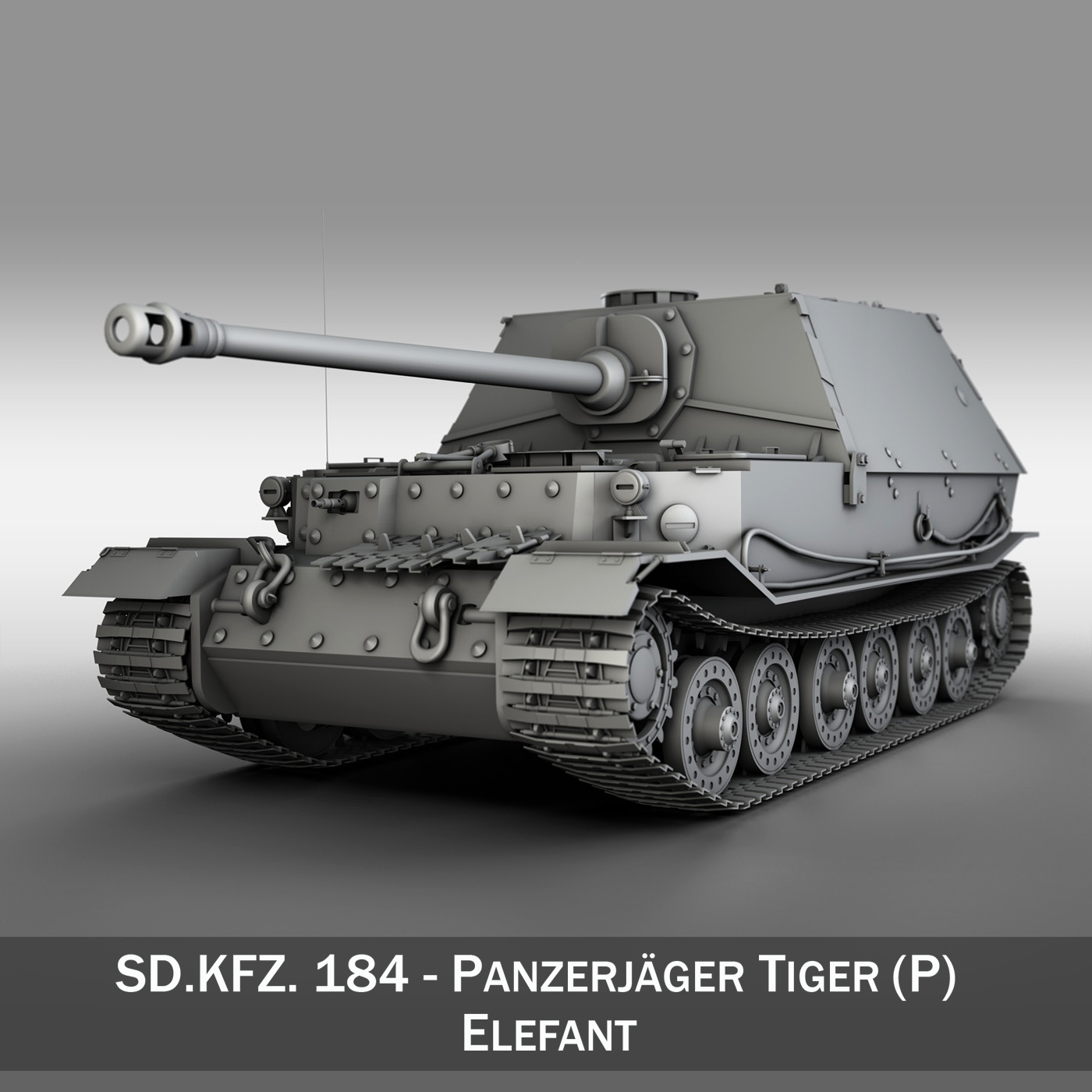 sd.kfz 184 – heavy tank destroyer tiger elefant 3d model fbx c4d lwo 3dm obj 189947