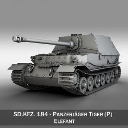 SD.KFZ 184 - Heavy tank destroyer Tiger Elefant 3d model 0
