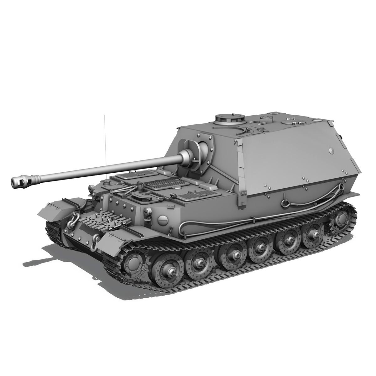 sd.kfz 184 – heavy tank destroyer tiger elefant 3d model fbx c4d lwo 3dm obj 189949