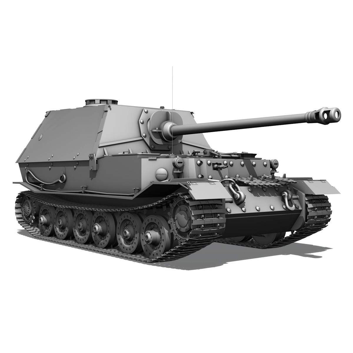 sd.kfz 184 – heavy tank destroyer tiger elefant 3d model fbx c4d lwo 3dm obj 189954