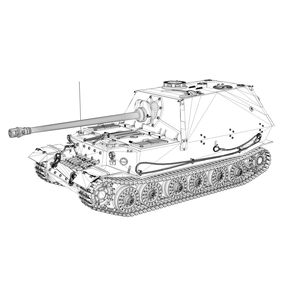 sd.kfz 184 – heavy tank destroyer tiger elefant 3d model fbx c4d lwo 3dm obj 189956