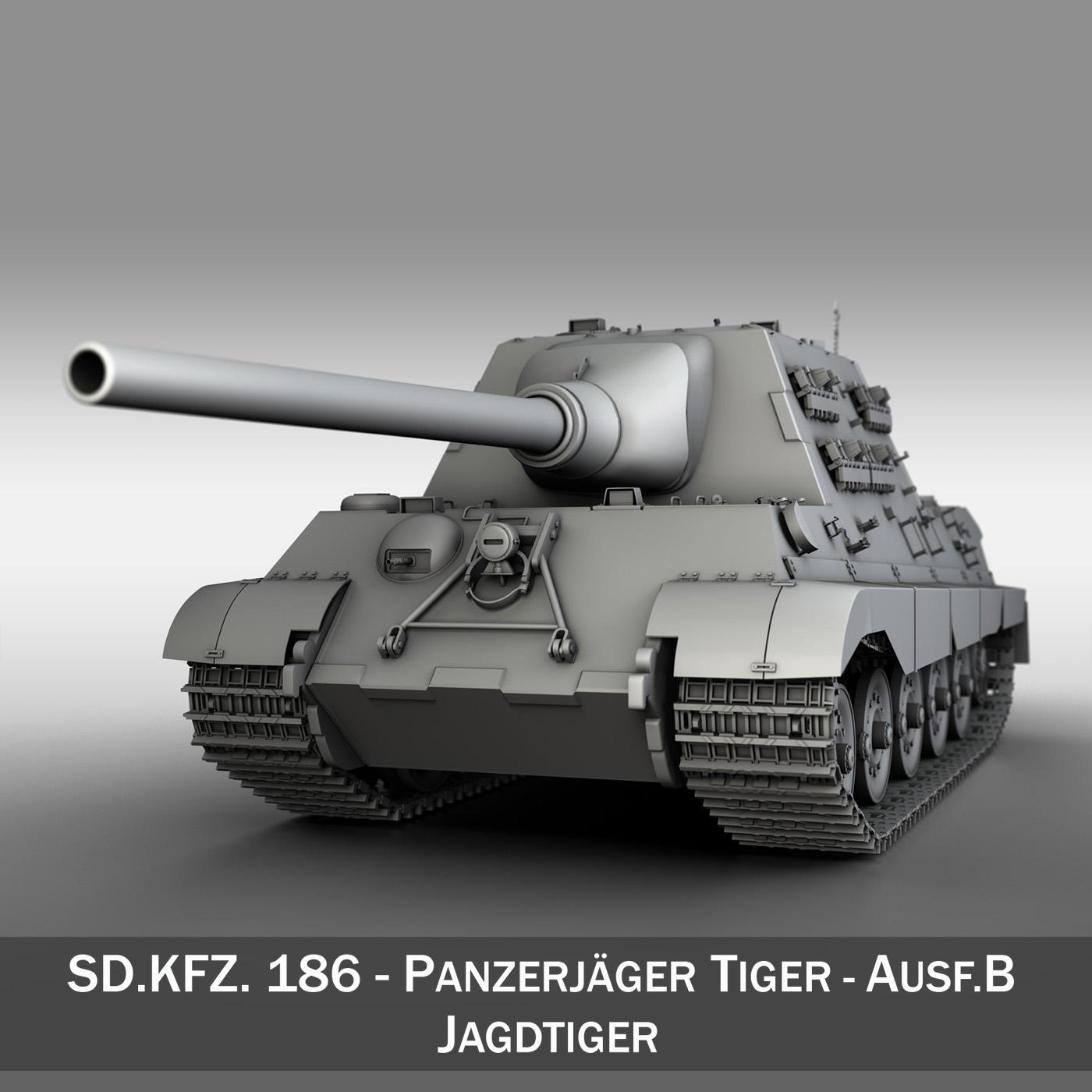 sd.kfz 186 jagdtiger hunting tiger 3d model 3ds fbx c4d lwo obj 189958
