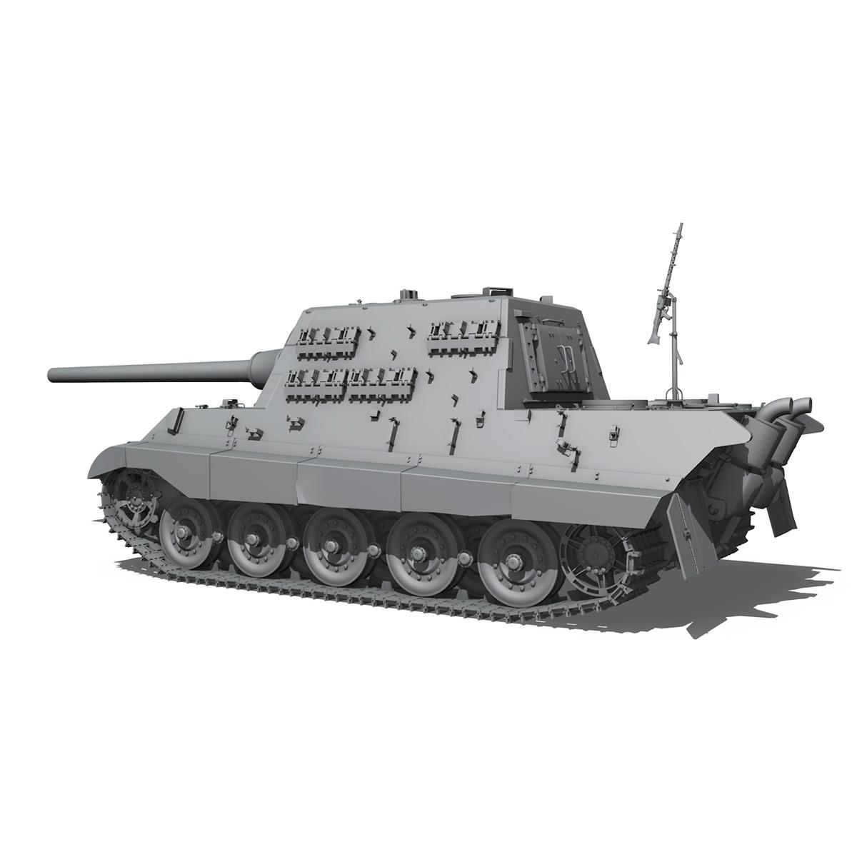 sd.kfz 186 jagdtiger hunting tiger 3d model 3ds fbx c4d lwo obj 189961