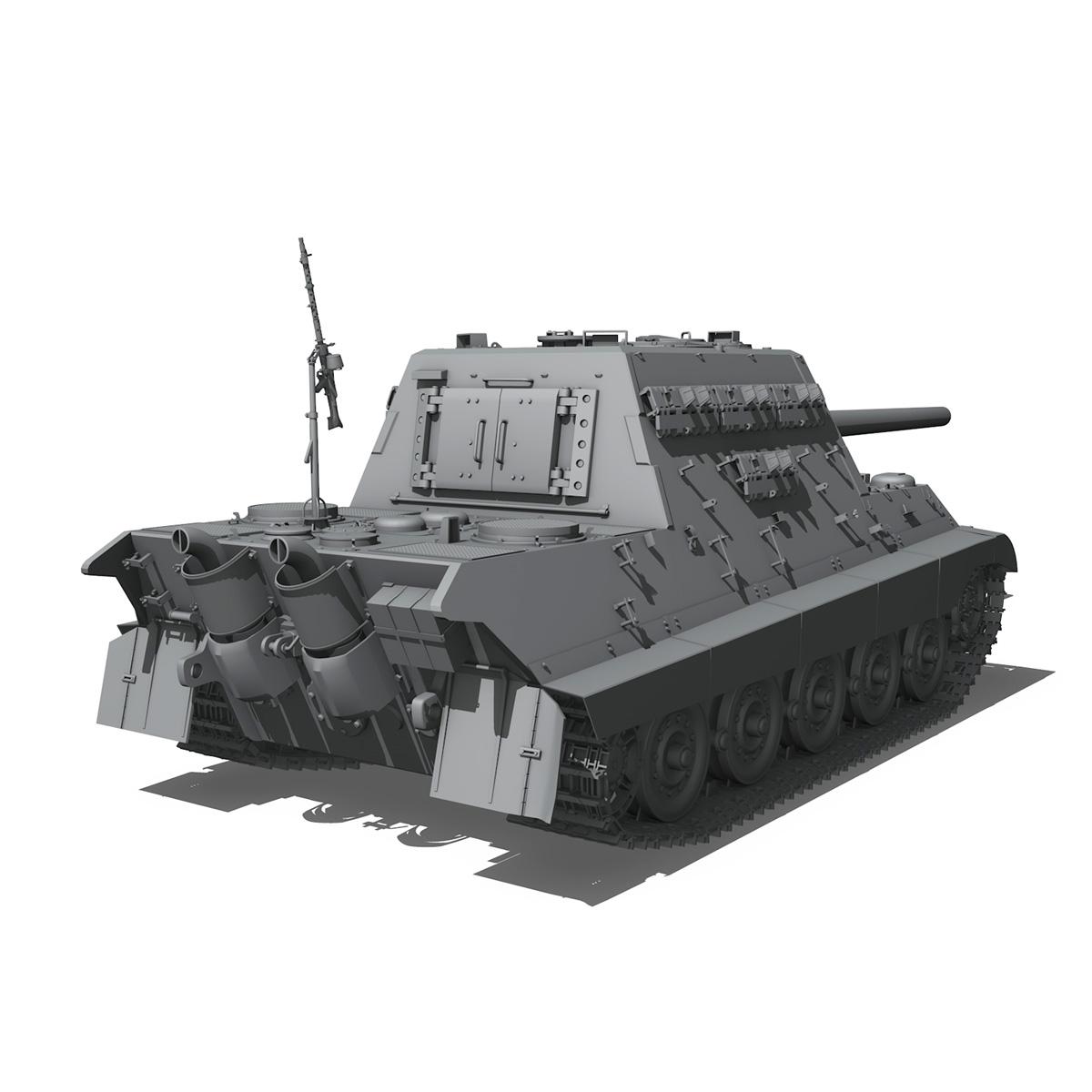sd.kfz 186 jagdtiger hunting tiger 3d model 3ds fbx c4d lwo obj 189963