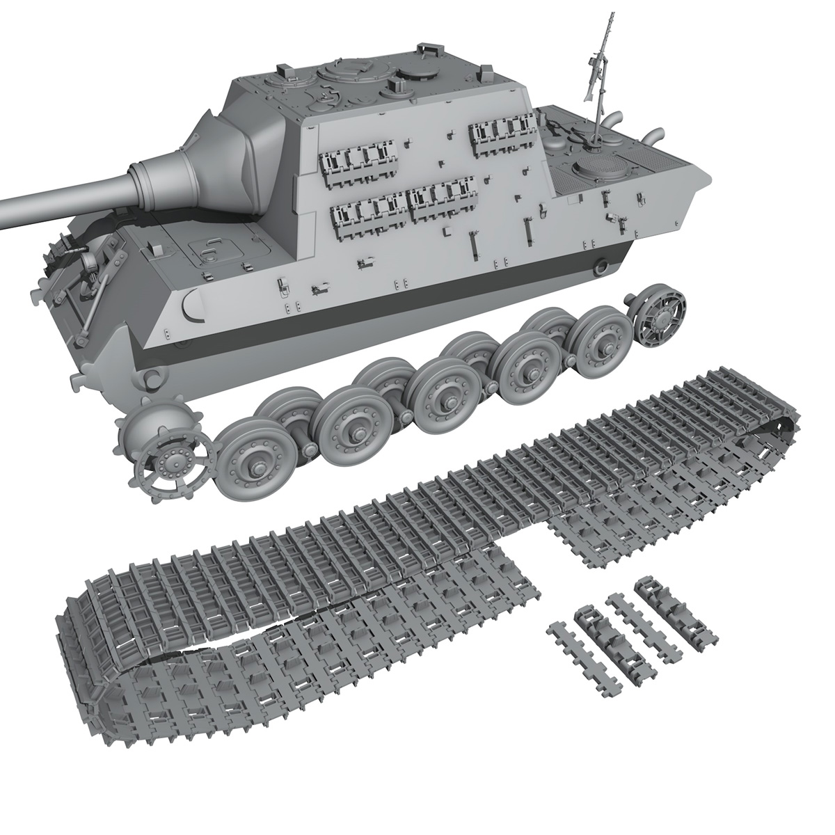 sd.kfz 186 jagdtiger hunting tiger 3d model 3ds fbx c4d lwo obj 189966