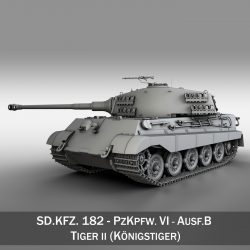 SD.KFZ 182 Panzer VI - Ausf B - Tiger II 3d model 0