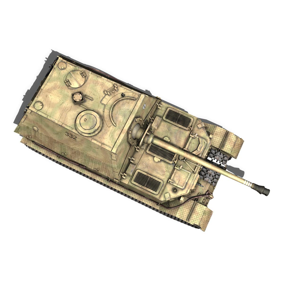 Tiger Tank Interior Model: SD.KFZ 184 Tank Destroyer Tiger (P) Elefant 3D Model