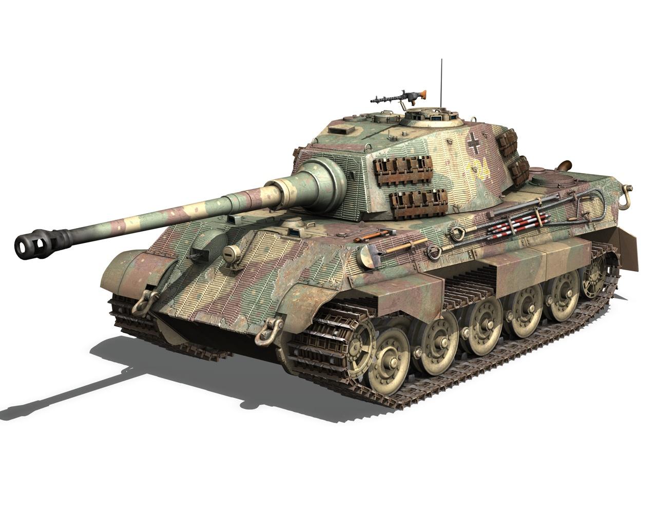 Sd Kfz Tiger King Tiger D Model Sample