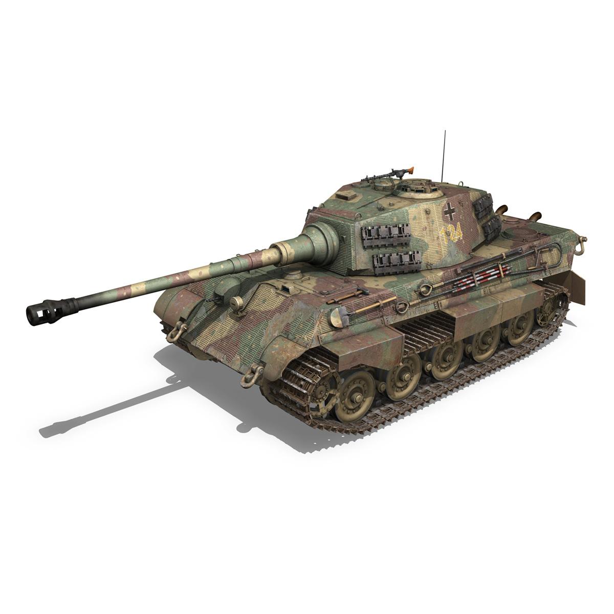 panzerkampfwagen vi – ausf.b – tiger ii – 124 3d model 3ds c4d lwo obj 190032