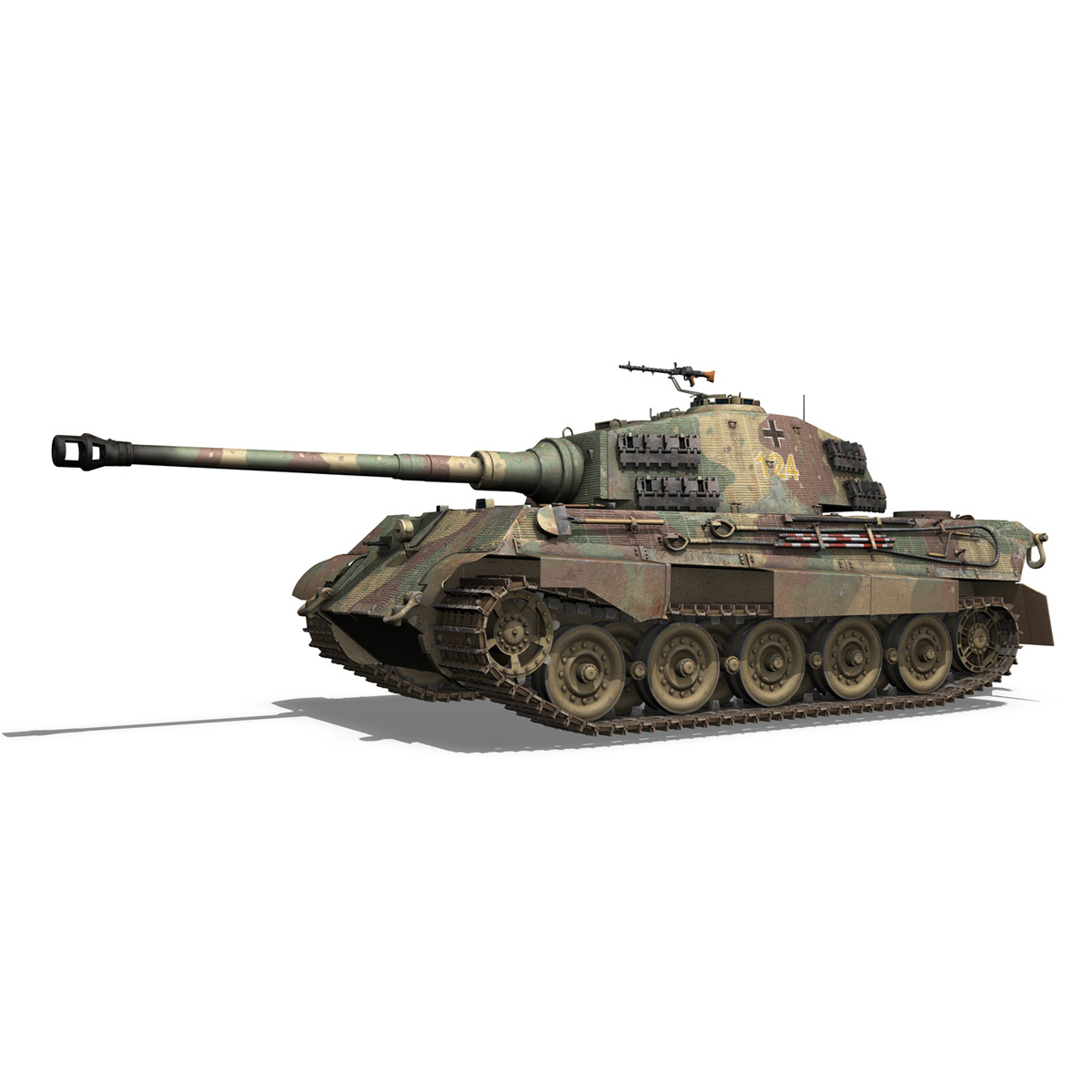 panzerkampfwagen vi – ausf.b – tiger ii – 124 3d model 3ds c4d lwo obj 190033