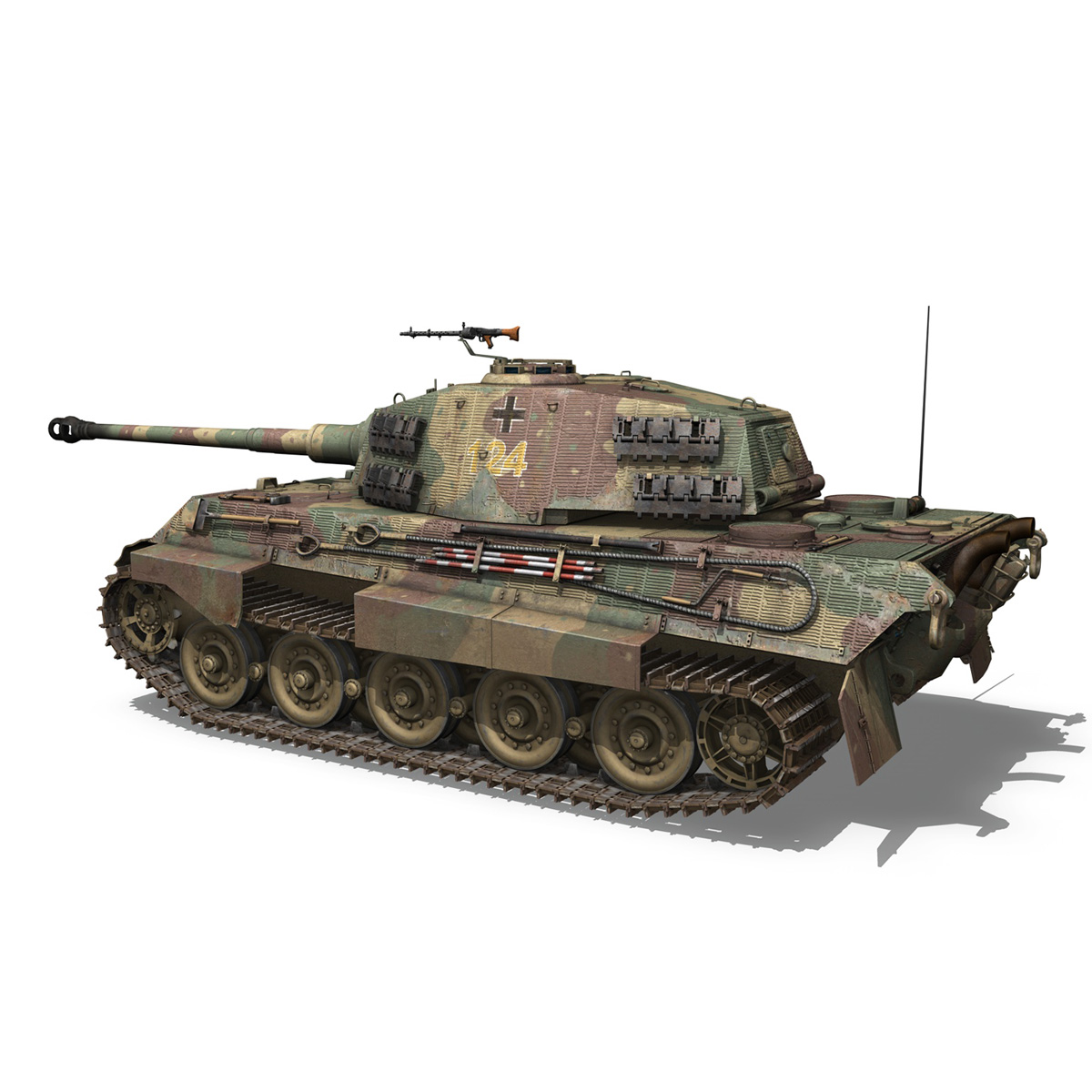panzerkampfwagen vi – ausf.b – tiger ii – 124 3d model 3ds c4d lwo obj 190034