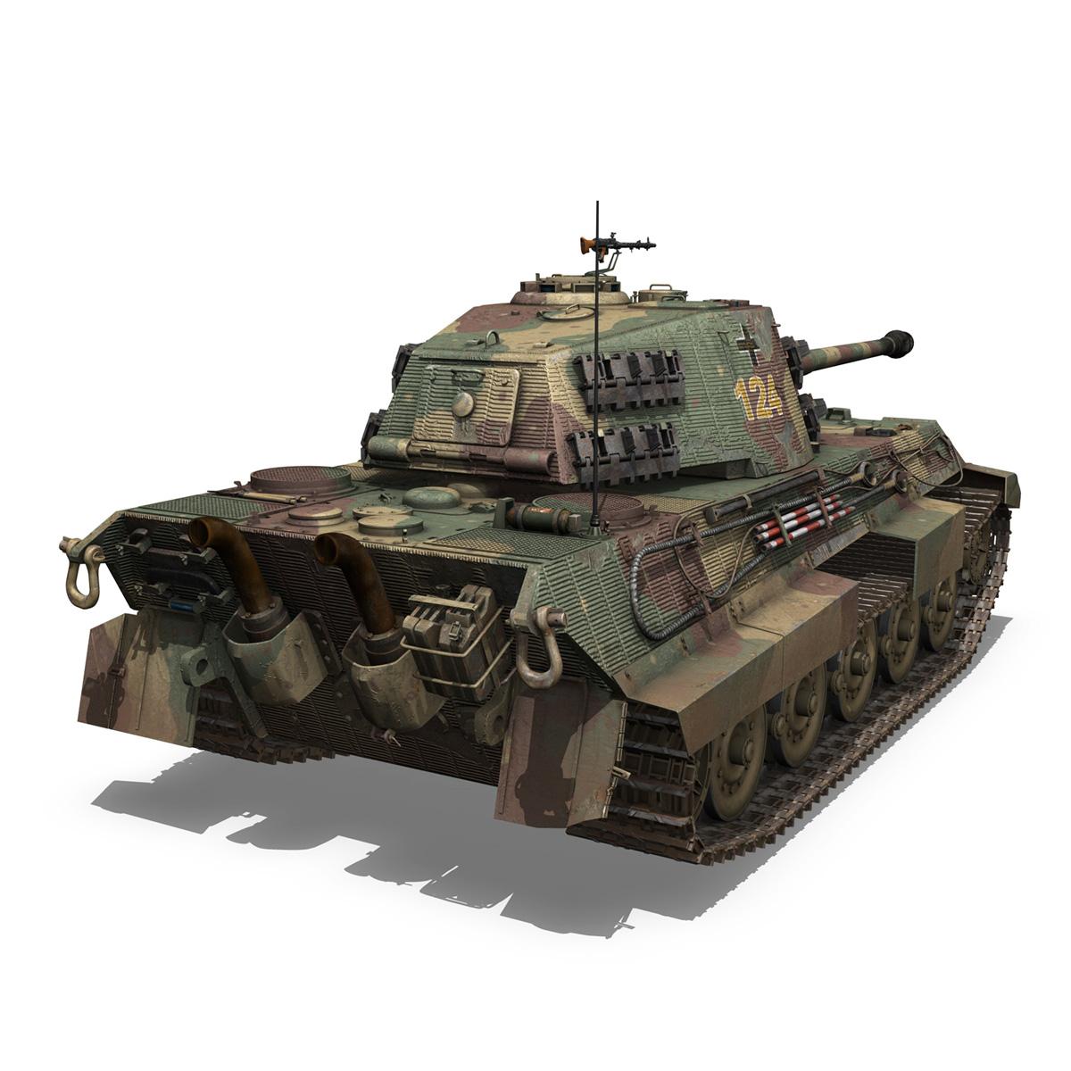panzerkampfwagen vi – ausf.b – tiger ii – 124 3d model 3ds c4d lwo obj 190035