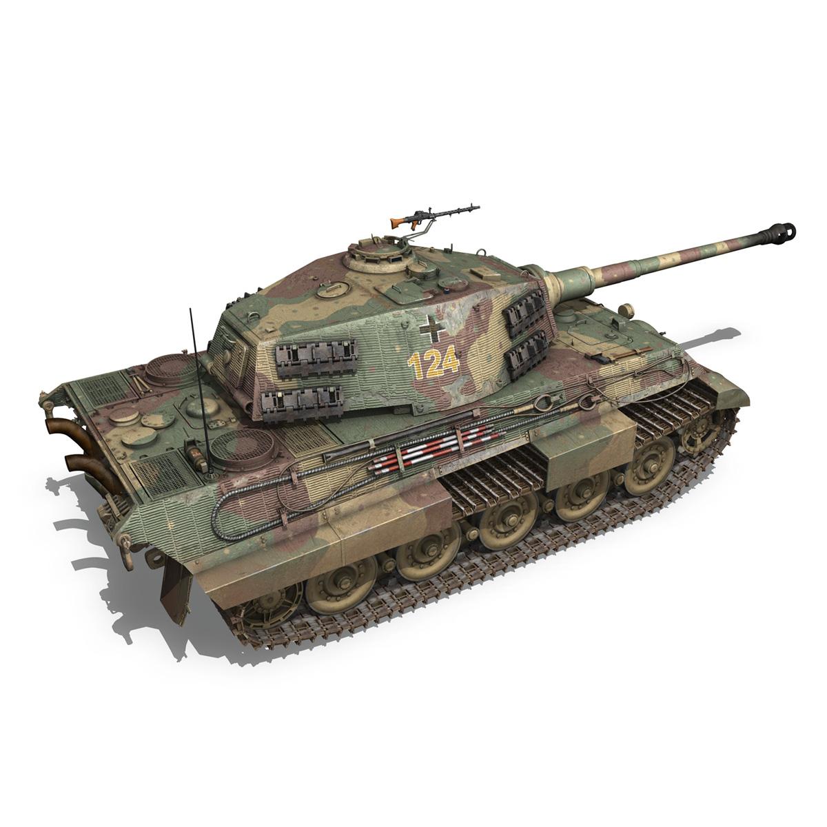 panzerkampfwagen vi – ausf.b – tiger ii – 124 3d model 3ds c4d lwo obj 190036