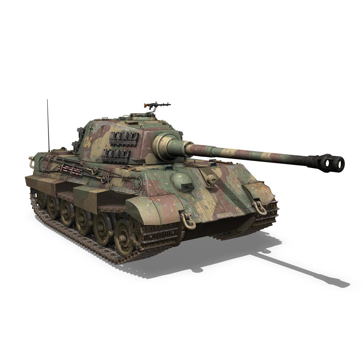 panzerkampfwagen vi – ausf.b – tiger ii – 124 3d model 3ds c4d lwo obj 190037