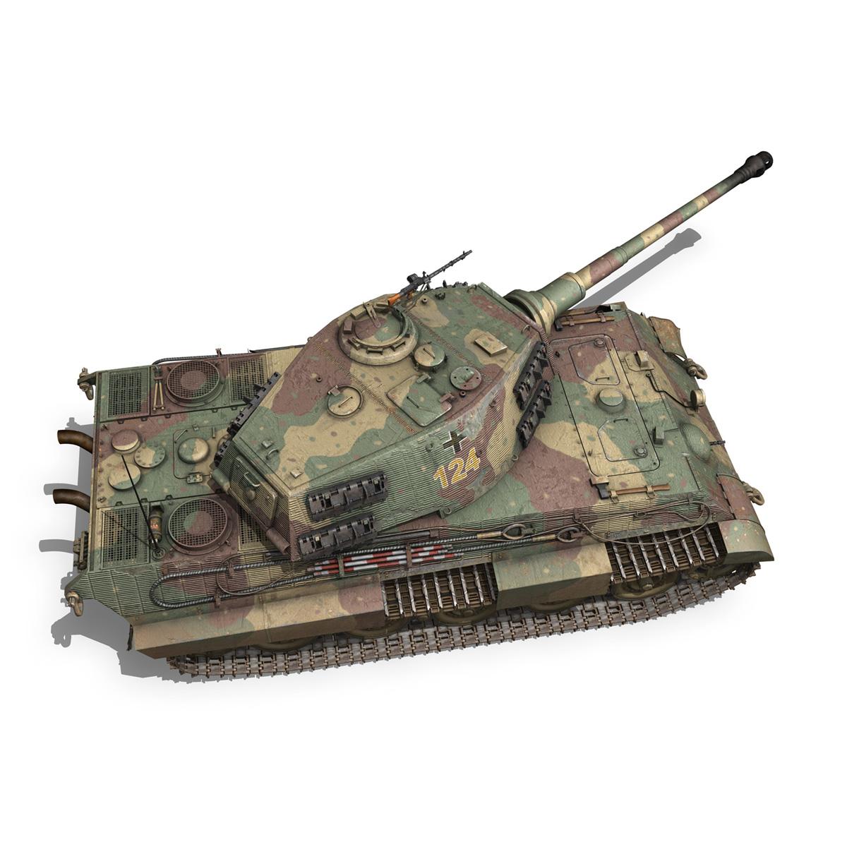 panzerkampfwagen vi – ausf.b – tiger ii – 124 3d model 3ds c4d lwo obj 190038