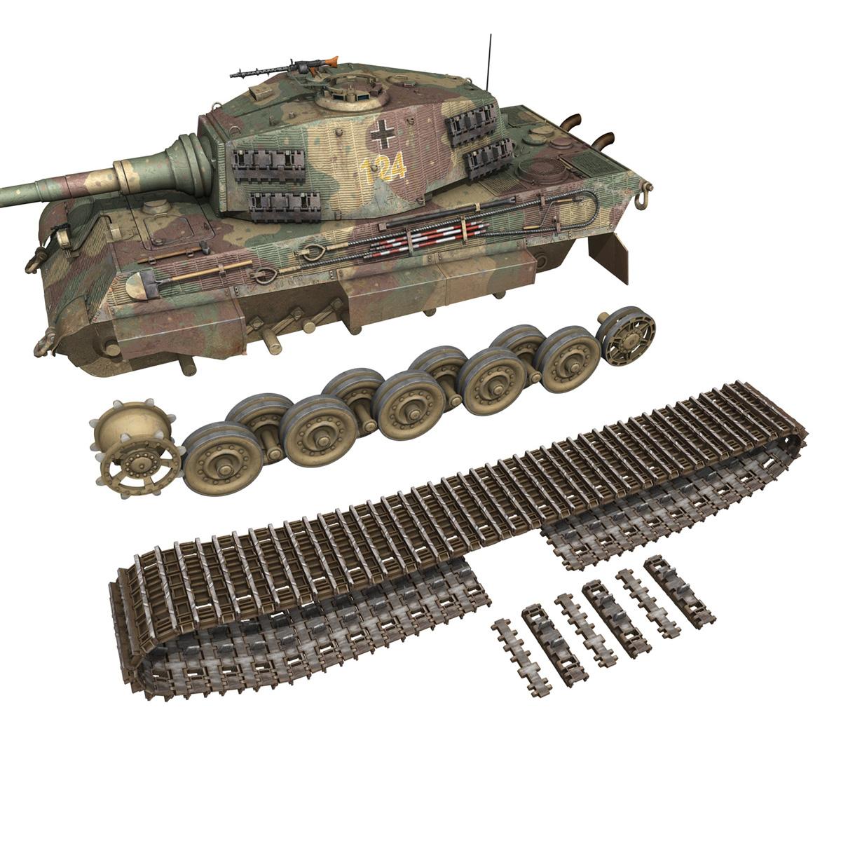 panzerkampfwagen vi – ausf.b – tiger ii – 124 3d model 3ds c4d lwo obj 190039