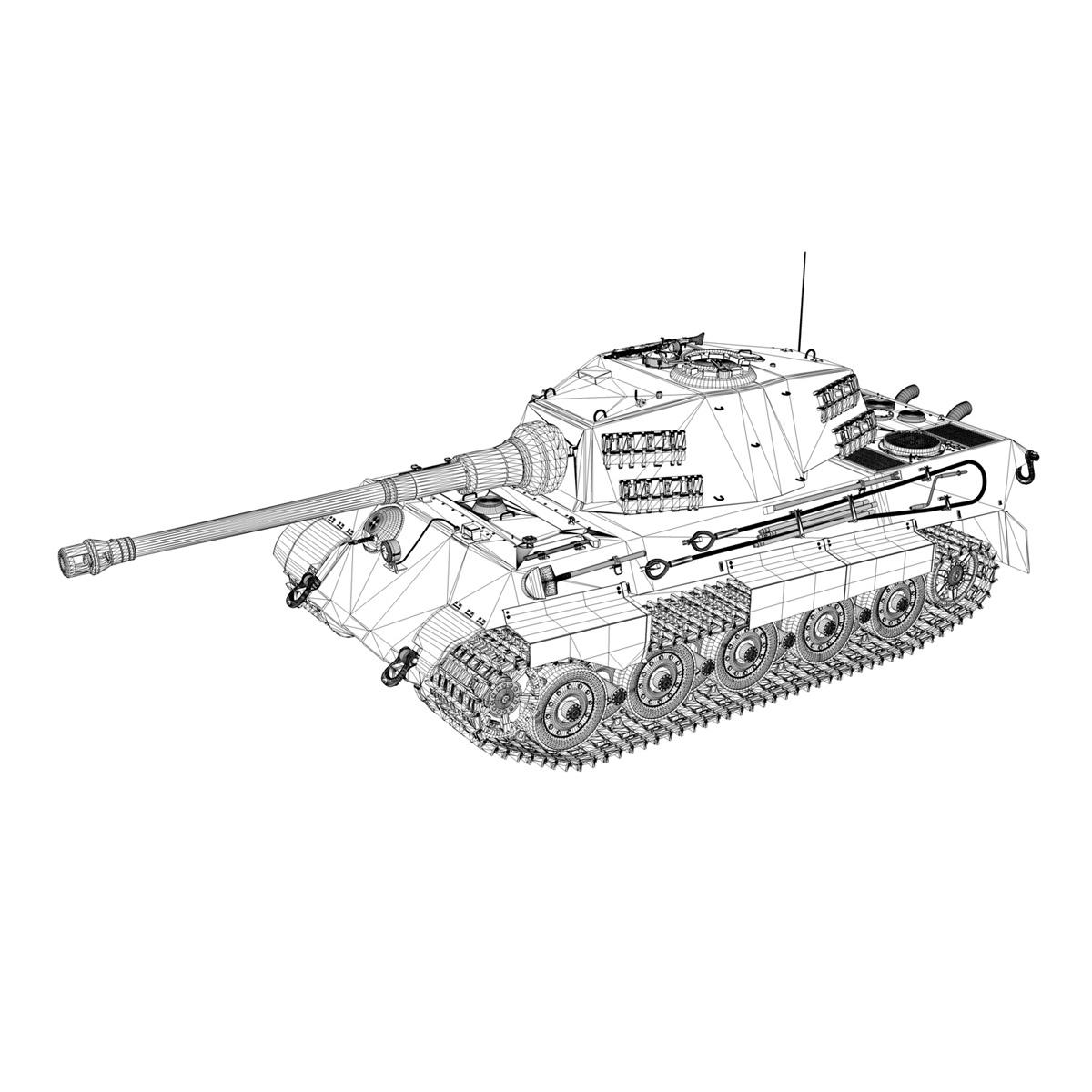 panzerkampfwagen vi – ausf.b – tiger ii – 124 3d model 3ds c4d lwo obj 190040