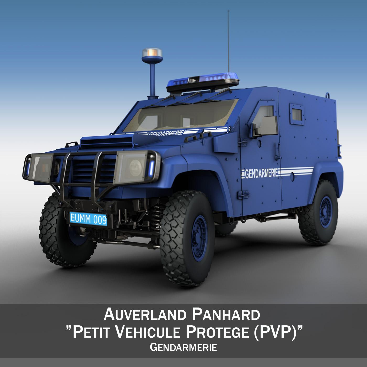 auverland panhard pvp – gendarmerie 3d model 3ds fbx c4d lwo obj 190066