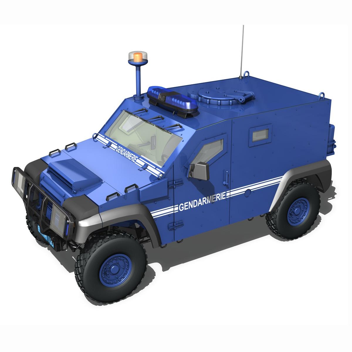 auverland panhard pvp – gendarmerie 3d model 3ds fbx c4d lwo obj 190067