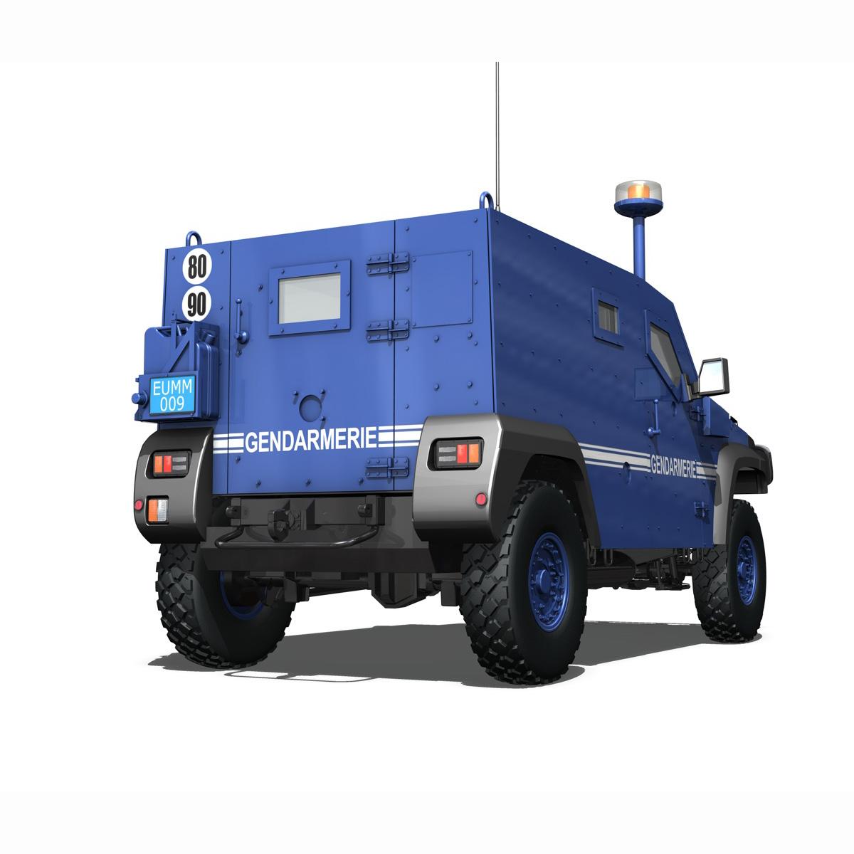auverland panhard pvp – gendarmerie 3d model 3ds fbx c4d lwo obj 190068