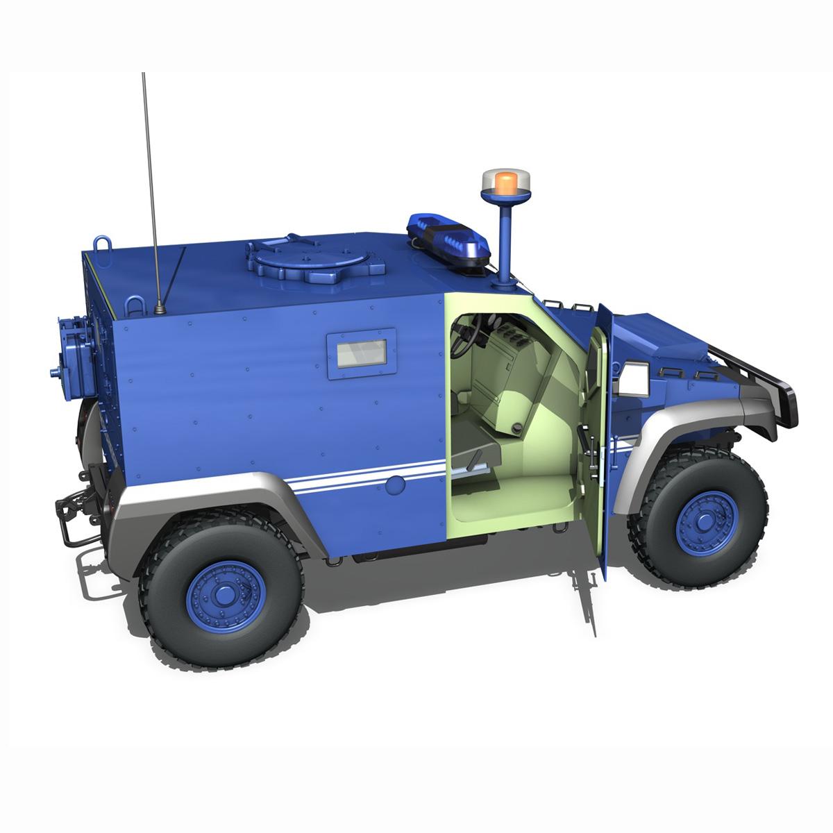 auverland panhard pvp – gendarmerie 3d model 3ds fbx c4d lwo obj 190069