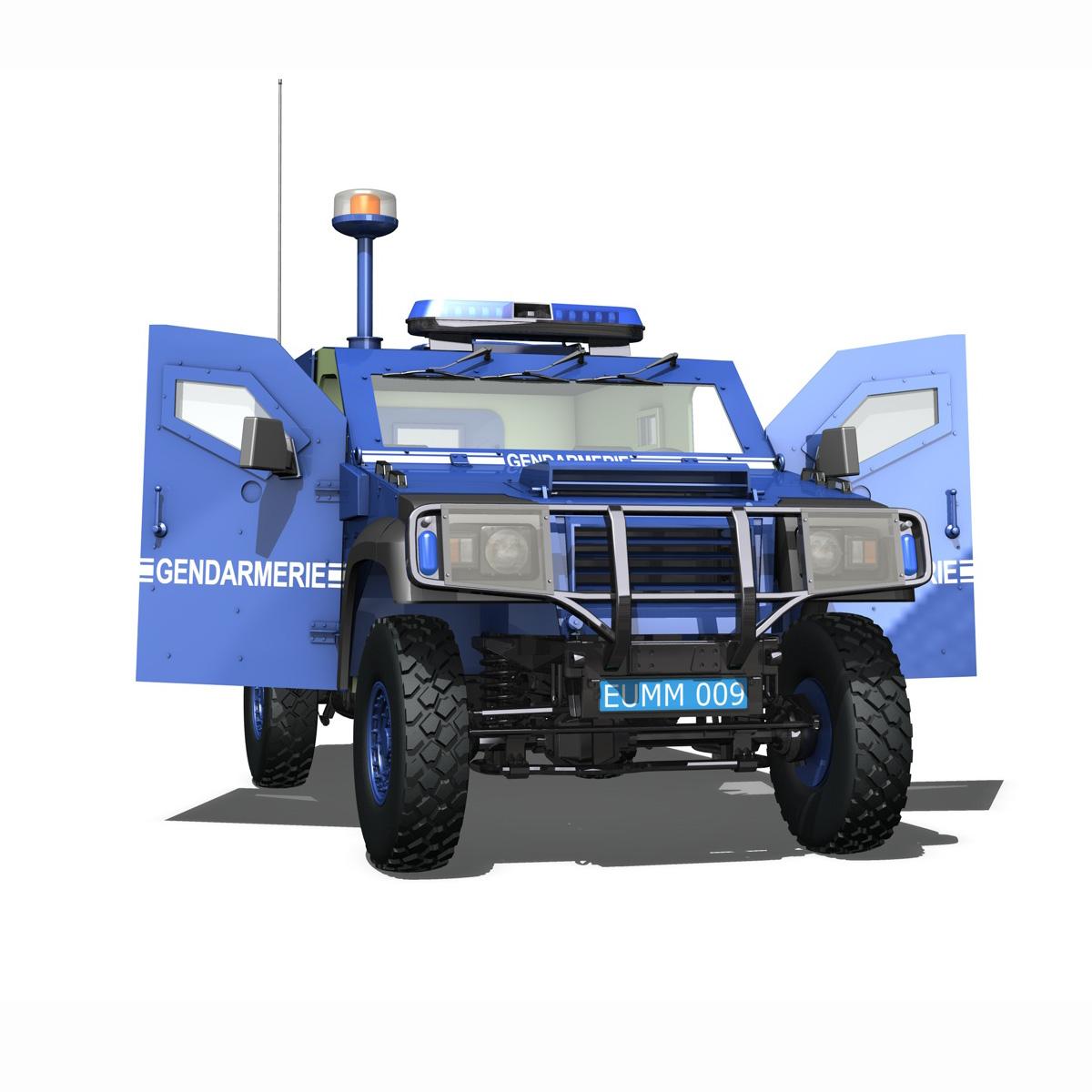auverland panhard pvp – gendarmerie 3d model 3ds fbx c4d lwo obj 190070