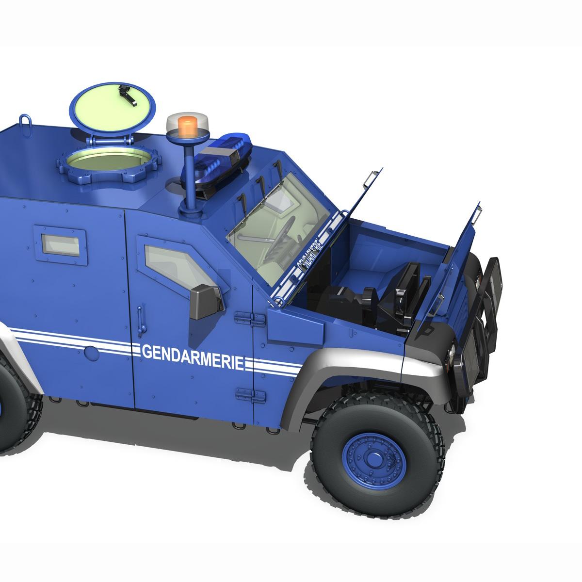 auverland panhard pvp – gendarmerie 3d model 3ds fbx c4d lwo obj 190073