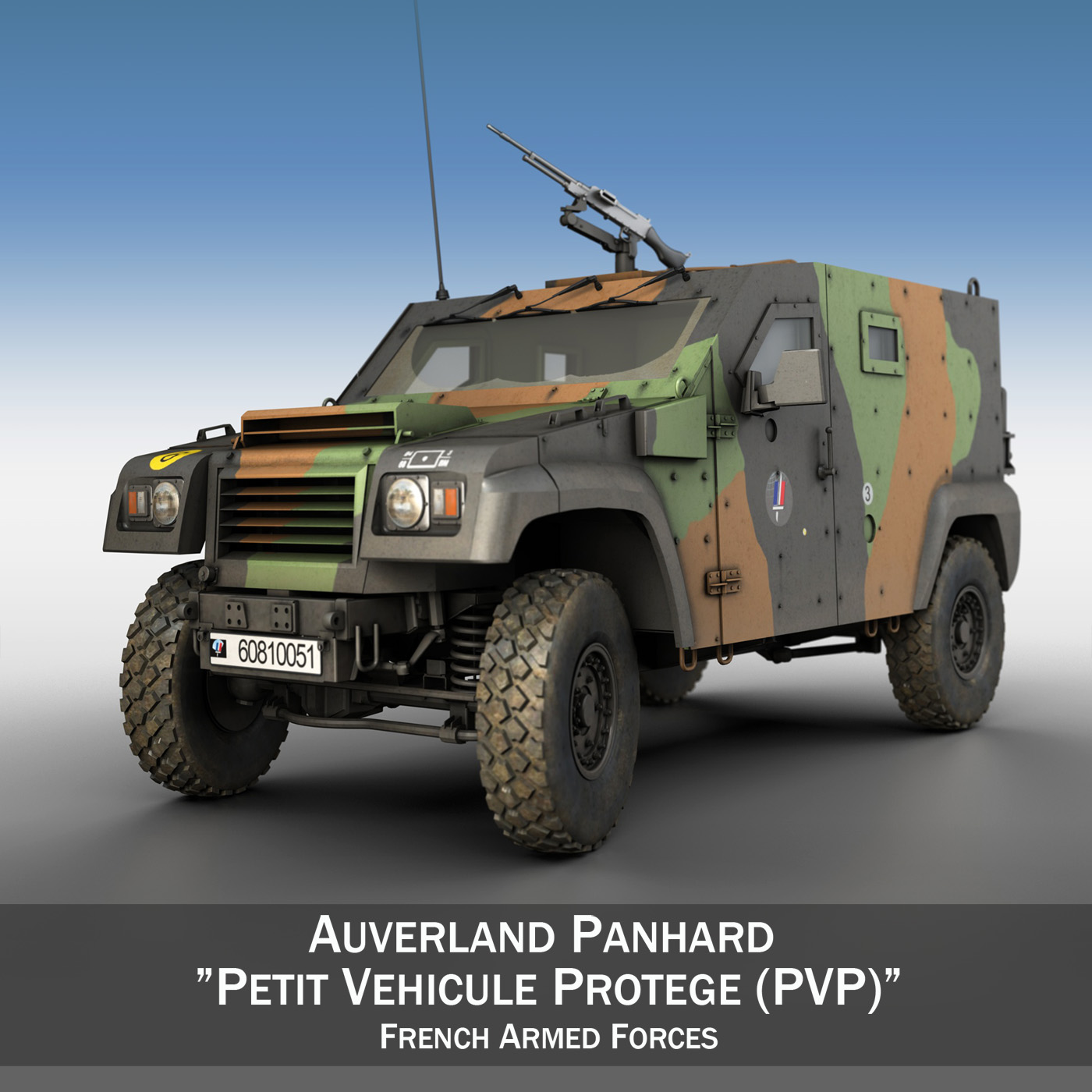 auverland panhard pvp - french army 3d model 3ds fbx c4d lwo obj 190089