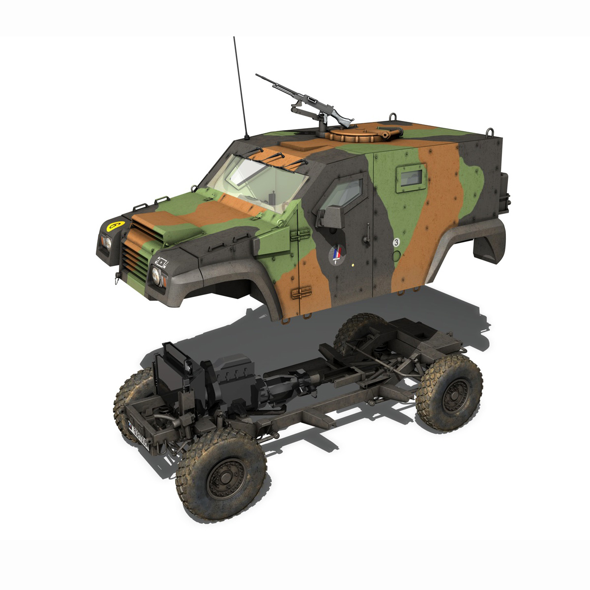 auverland panhard pvp – french army 3d model 3ds fbx c4d lwo obj 190096