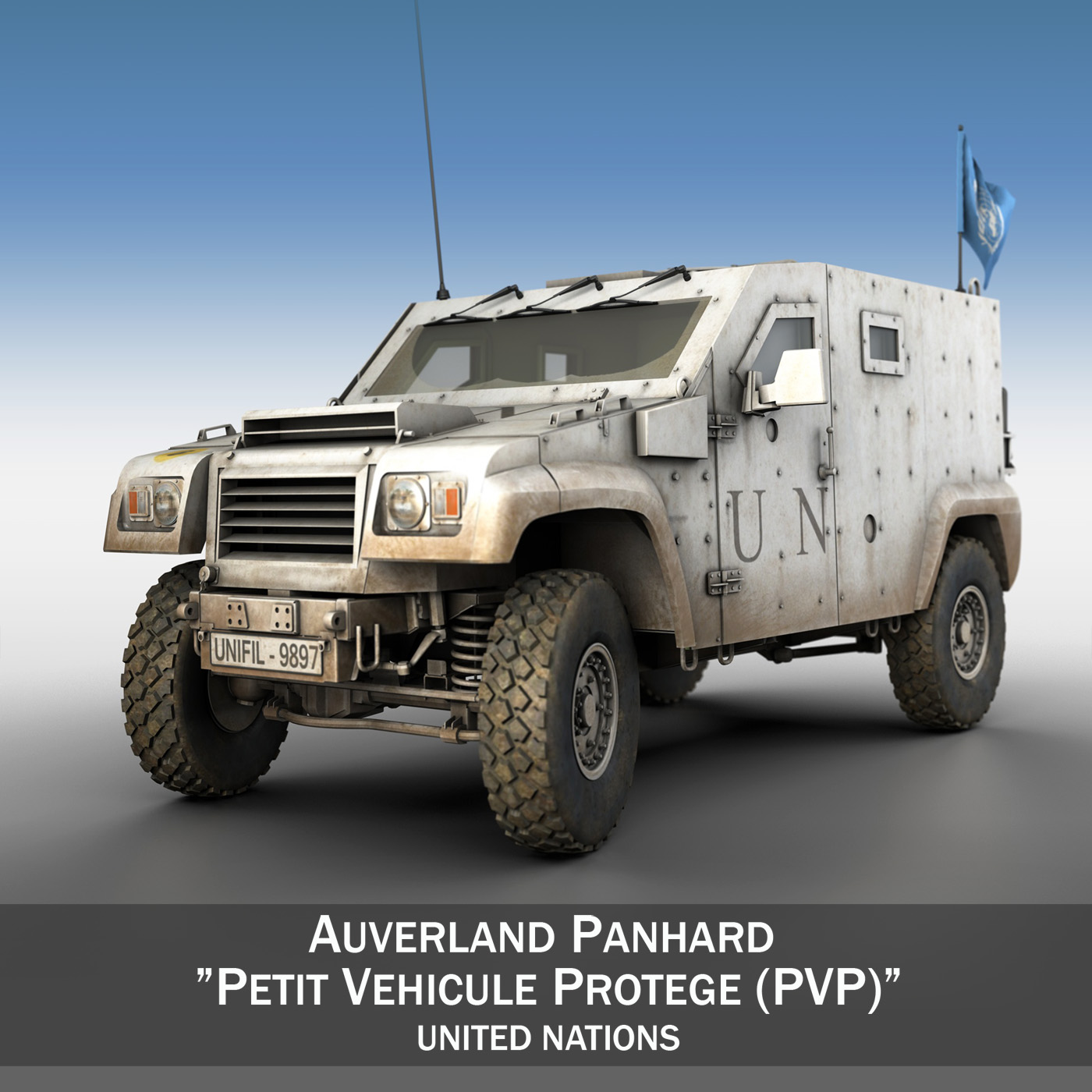 auverland panhard pvp – united nations 3d model 3ds fbx c4d lwo obj 190102