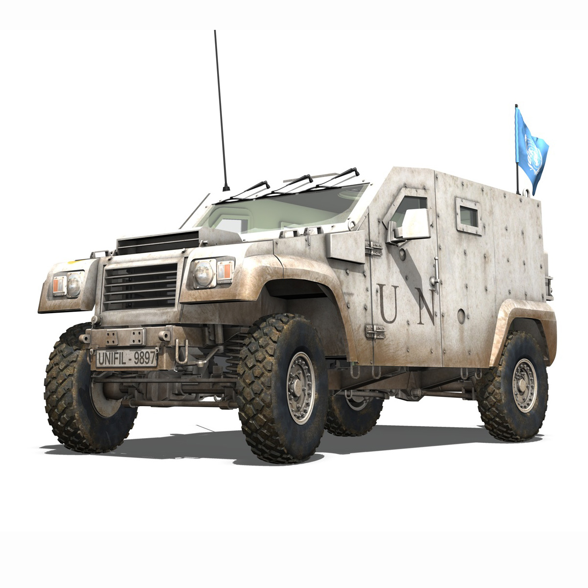 auverland panhard pvp – united nations 3d model 3ds fbx c4d lwo obj 190103