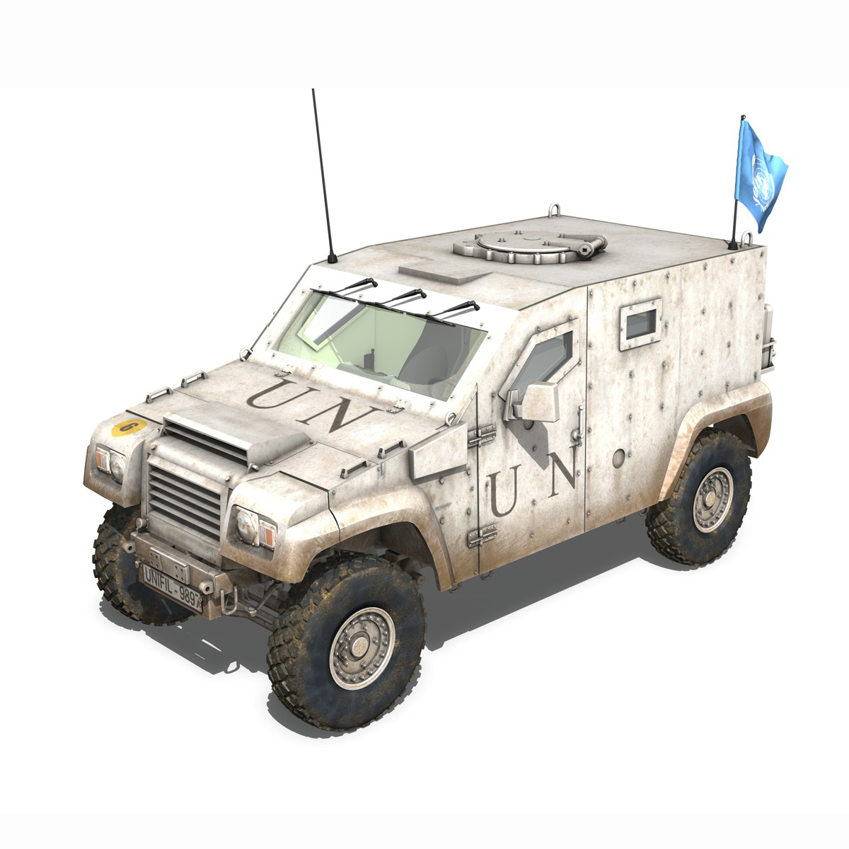 auverland panhard pvp – united nations 3d model 3ds fbx c4d lwo obj 190104