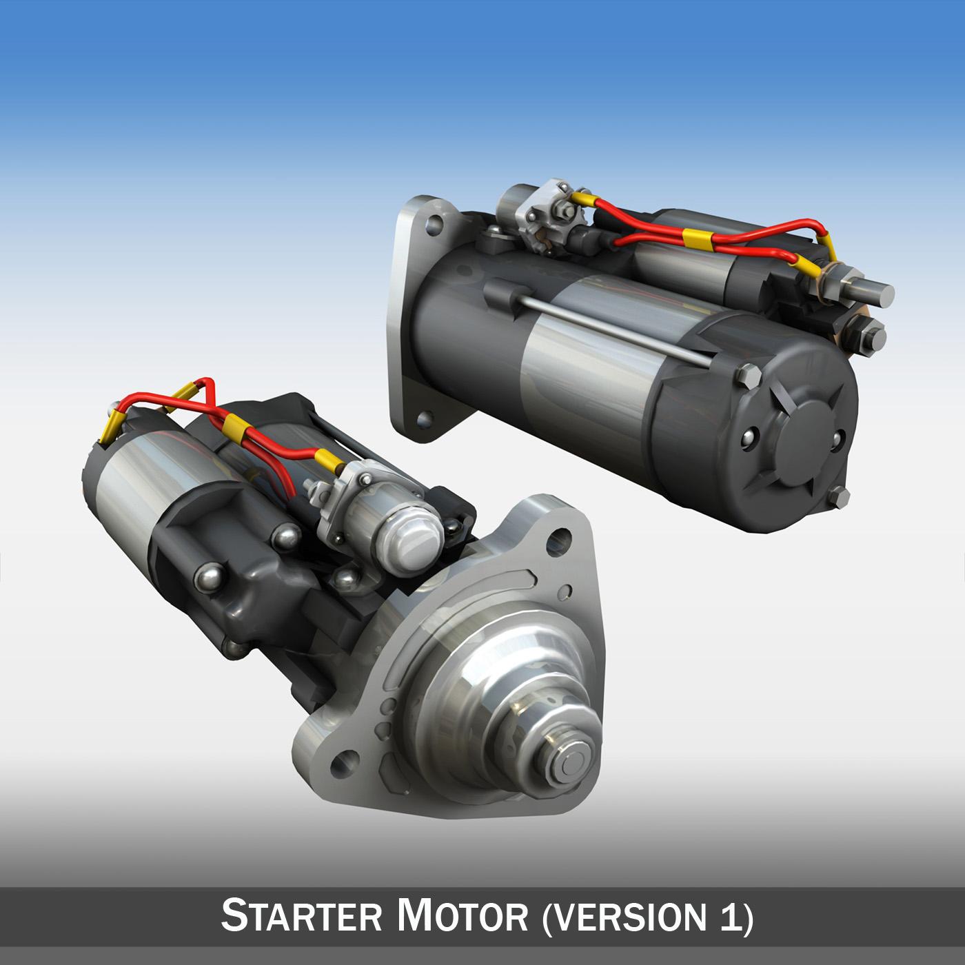 starter motor 3d model 3ds fbx c4d lwo obj 190114