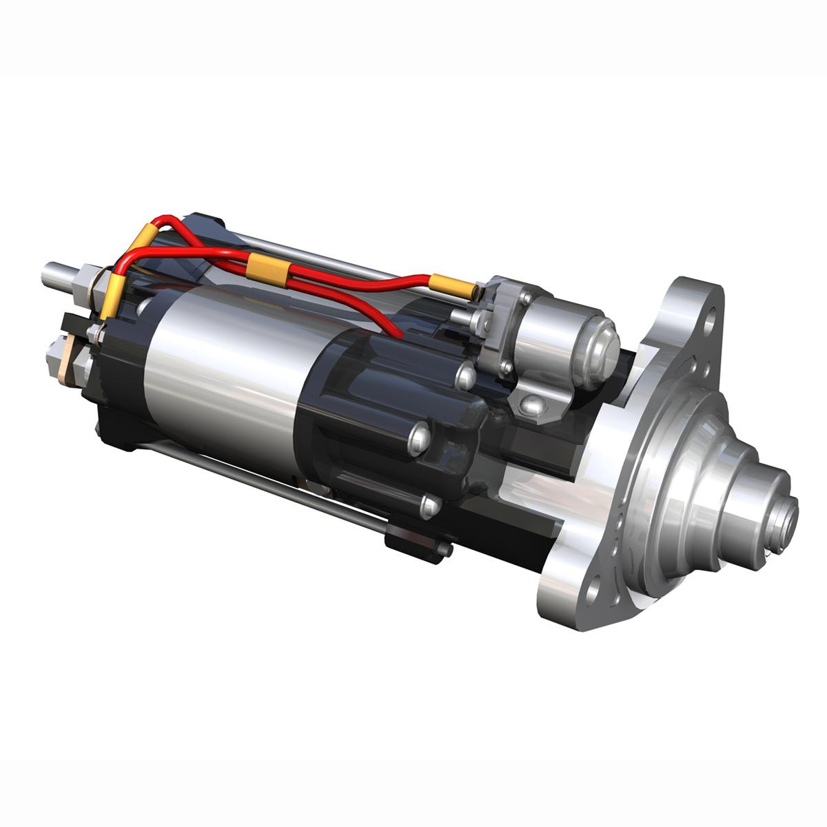 starter motor 3d model 3ds fbx c4d lwo obj 190115