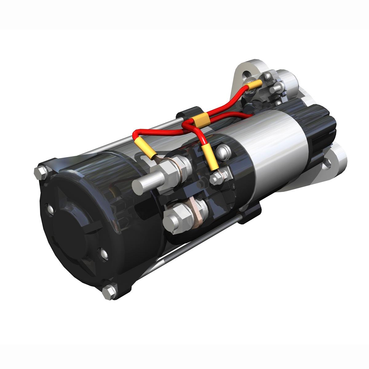 starter motor 3d model 3ds fbx c4d lwo obj 190116