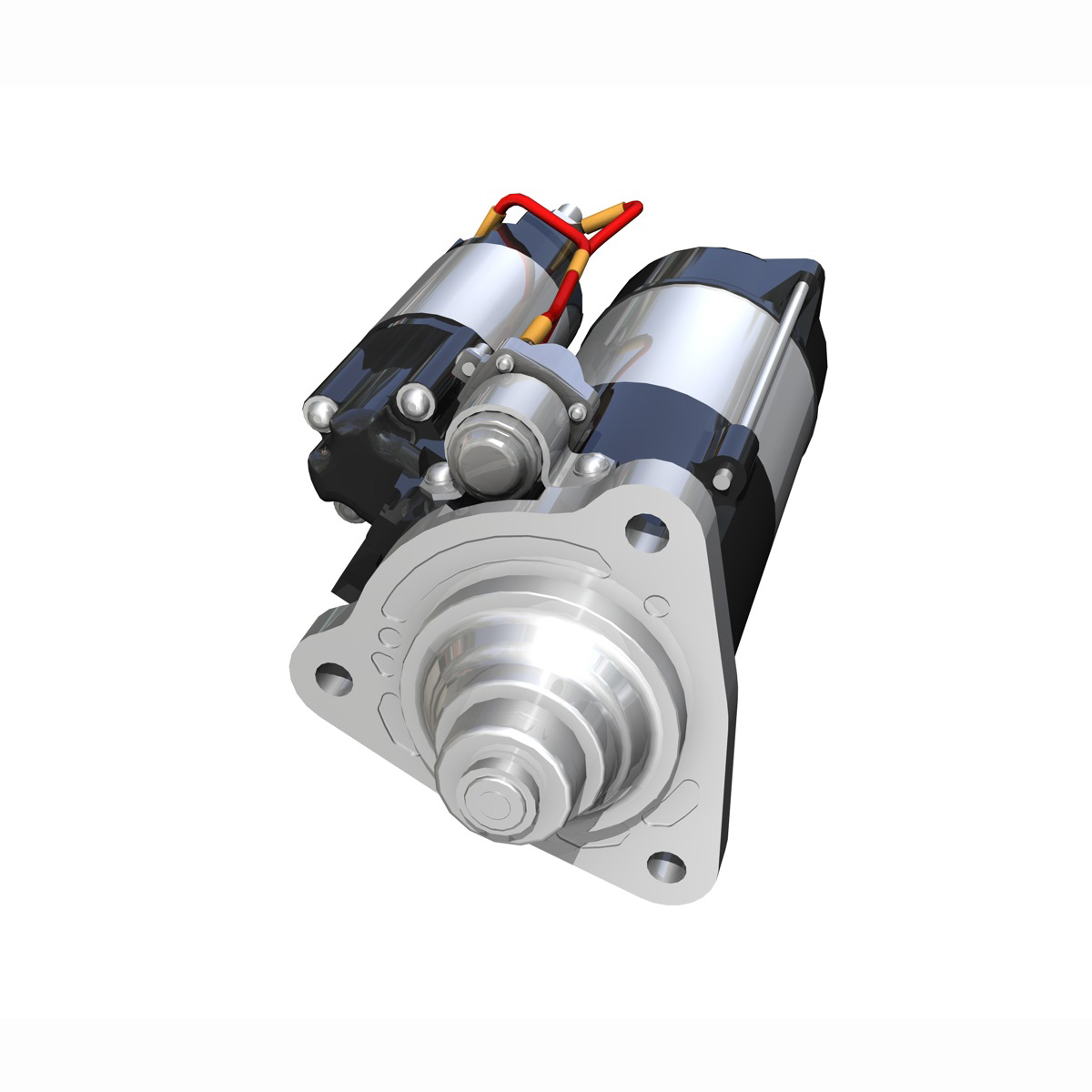 starter motor 3d model 3ds fbx c4d lwo obj 190121