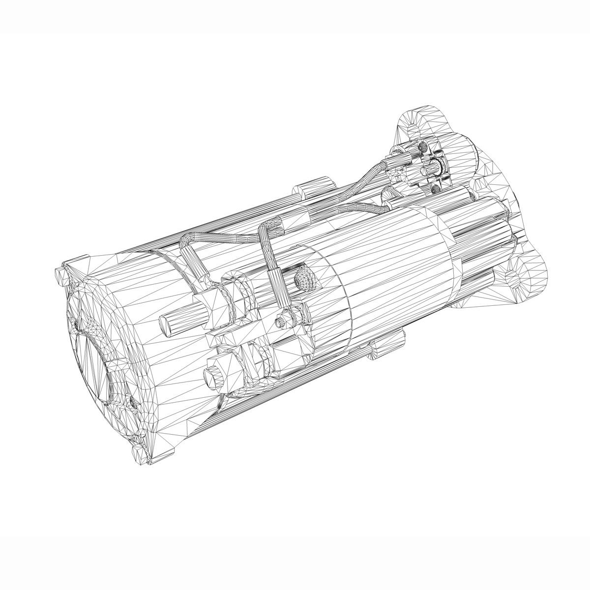 starter motor 3d model 3ds fbx c4d lwo obj 190122
