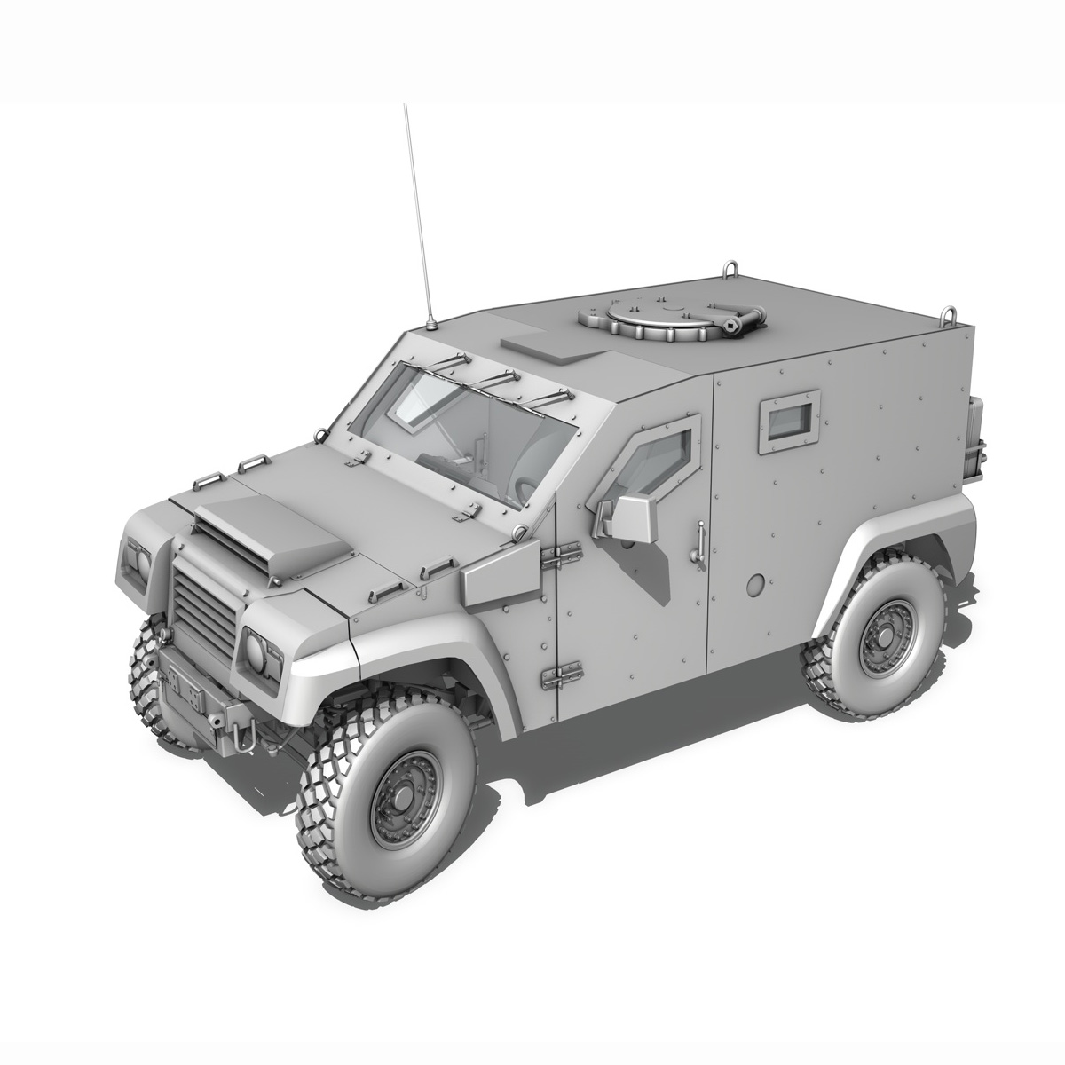 auverland panhard pvp – petit vehicule protege 3d model 3ds fbx c4d lwo obj 190126
