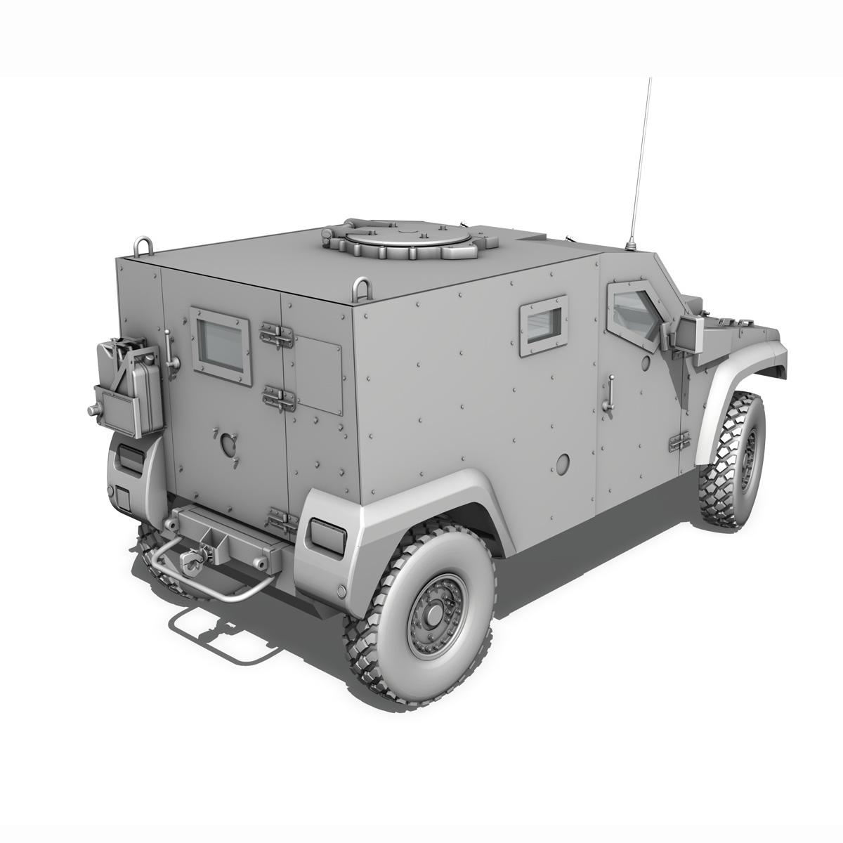auverland panhard pvp – petit vehicule protege 3d model 3ds fbx c4d lwo obj 190128