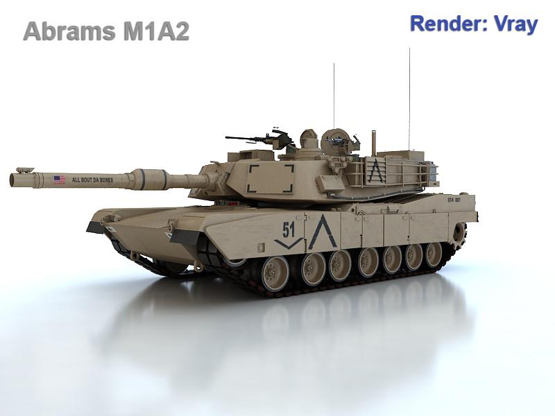 abrams m1a2 3d model max fbx obj 190142