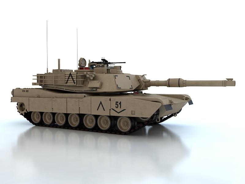 abrams m1a2 3d model max fbx obj 190145