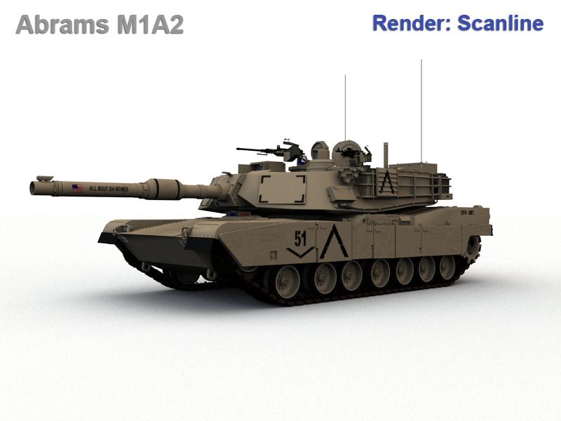 abrams m1a2 3d model max fbx obj 190153