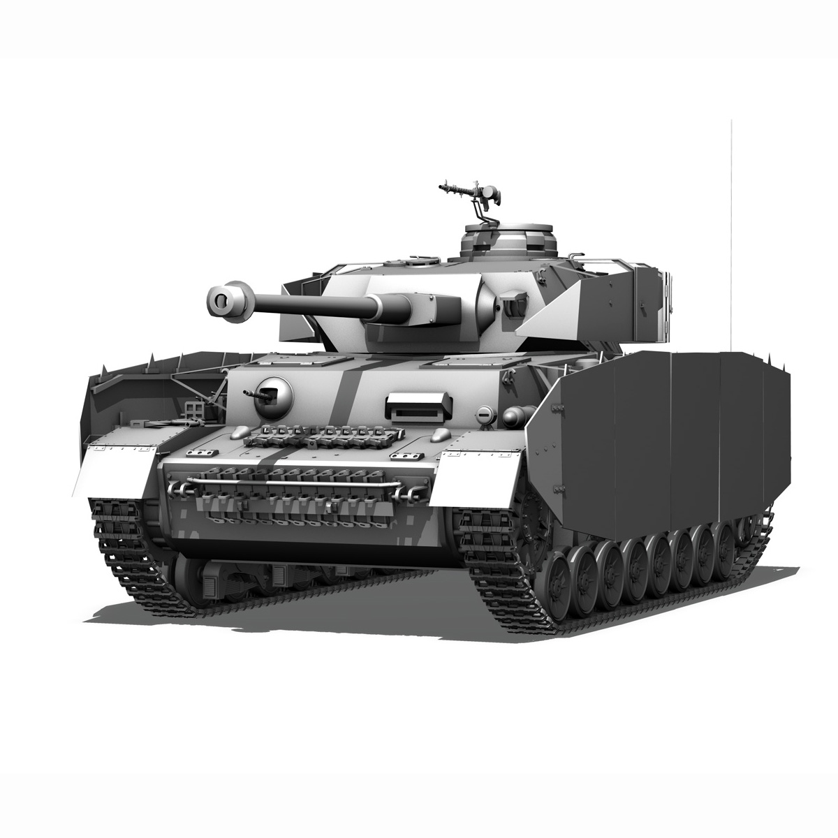sd.kfz 161 pzkpfw iv - panzer 4 - ausf.h késő 3d modell 3ds fbx c4d lwo obj 190317