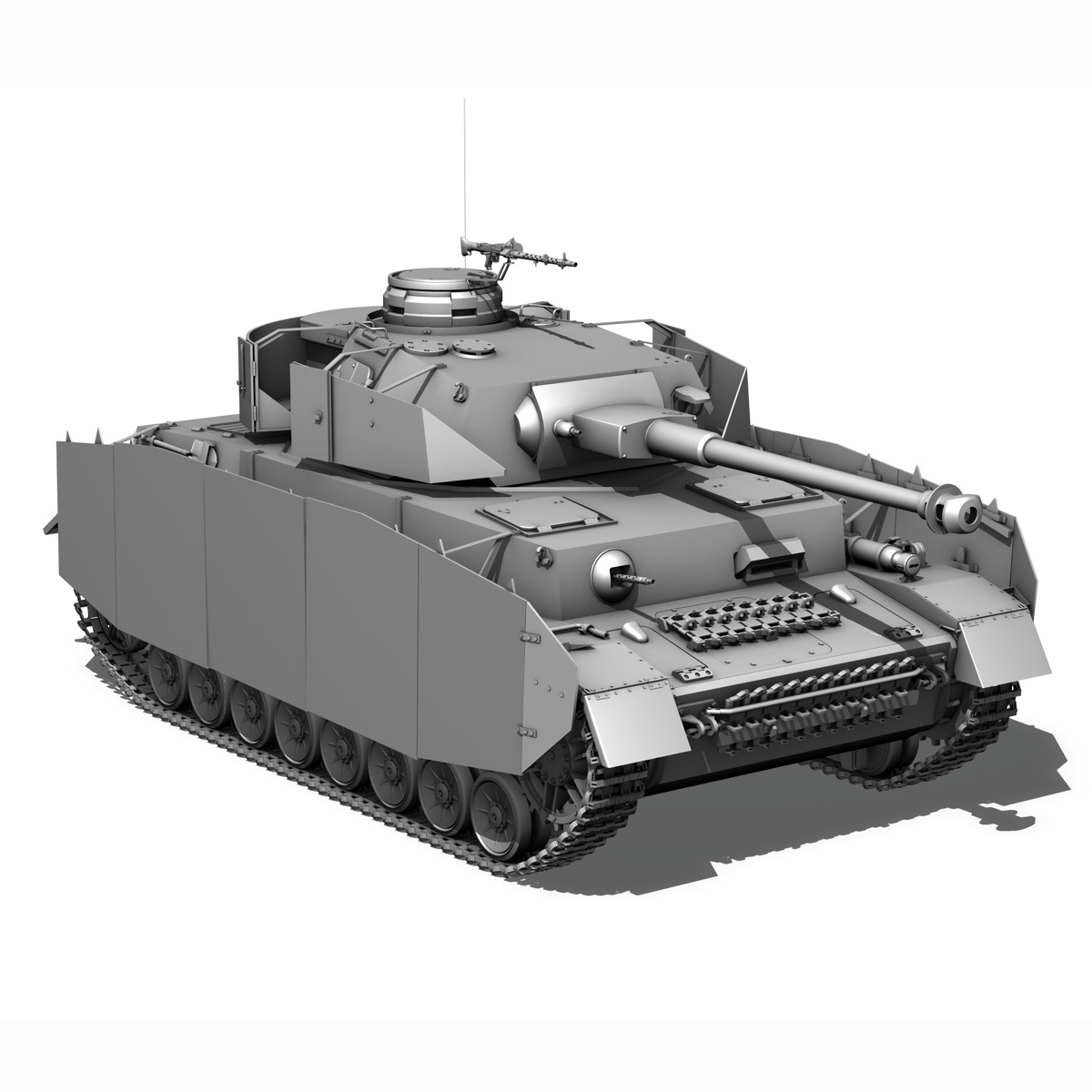sd.kfz 161 pzkpfw iv - panzer 4 - ausf.h késő 3d modell 3ds fbx c4d lwo obj 190318
