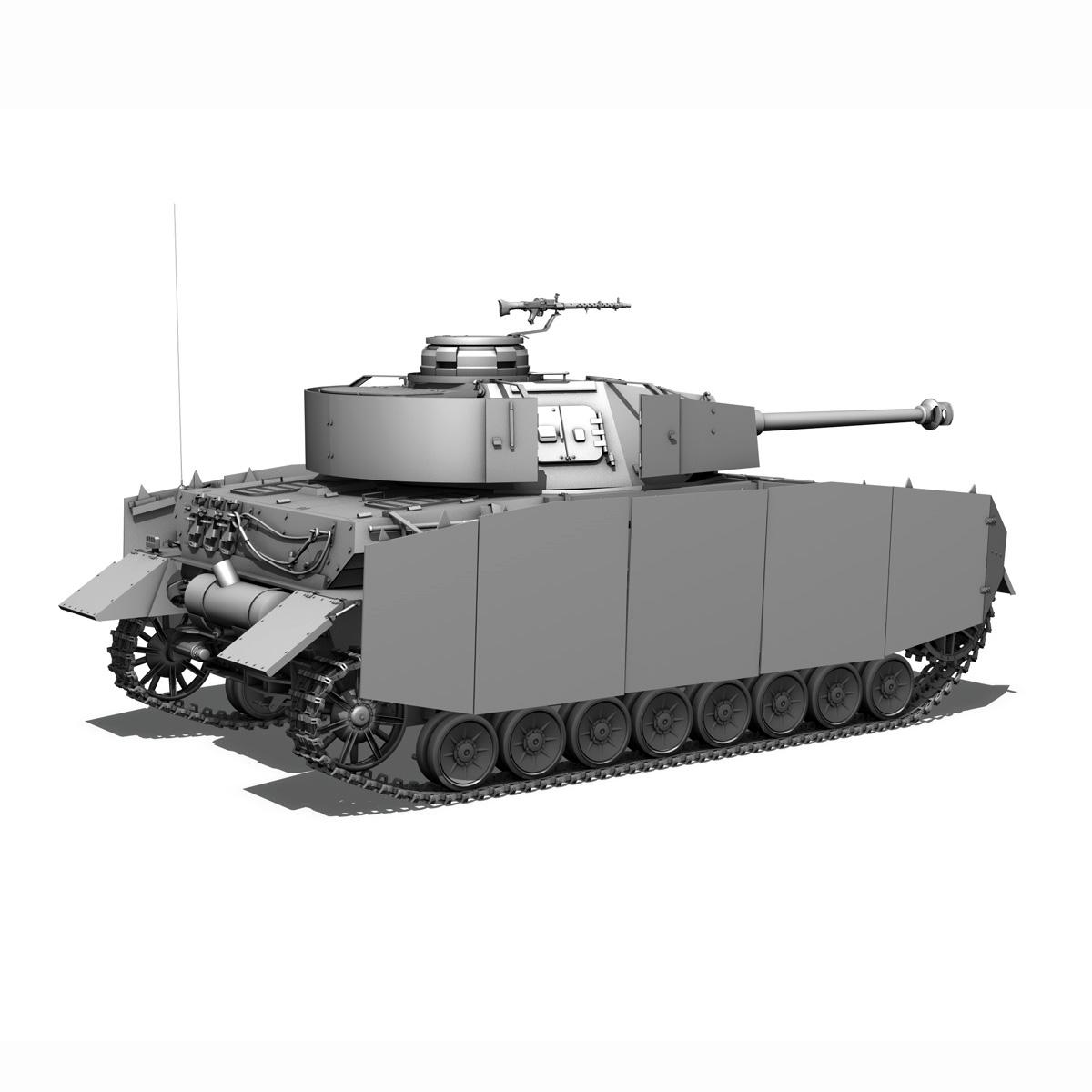 sd.kfz 161 pzkpfw iv - panzer 4 - ausf.h késő 3d modell 3ds fbx c4d lwo obj 190319