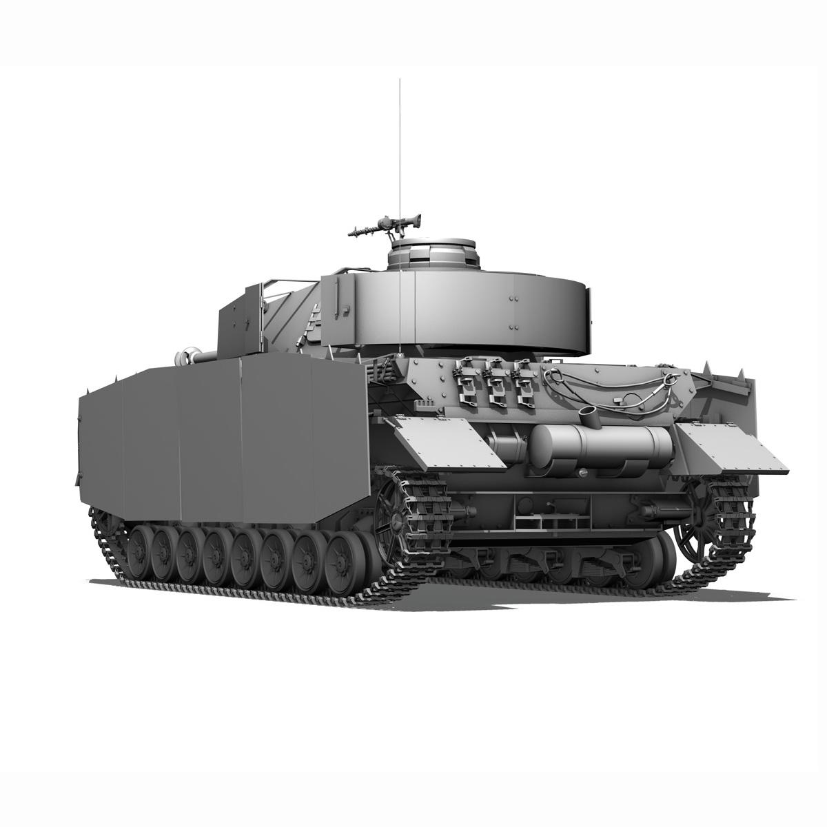 sd.kfz 161 pzkpfw iv - panzer 4 - ausf.h késő 3d modell 3ds fbx c4d lwo obj 190320