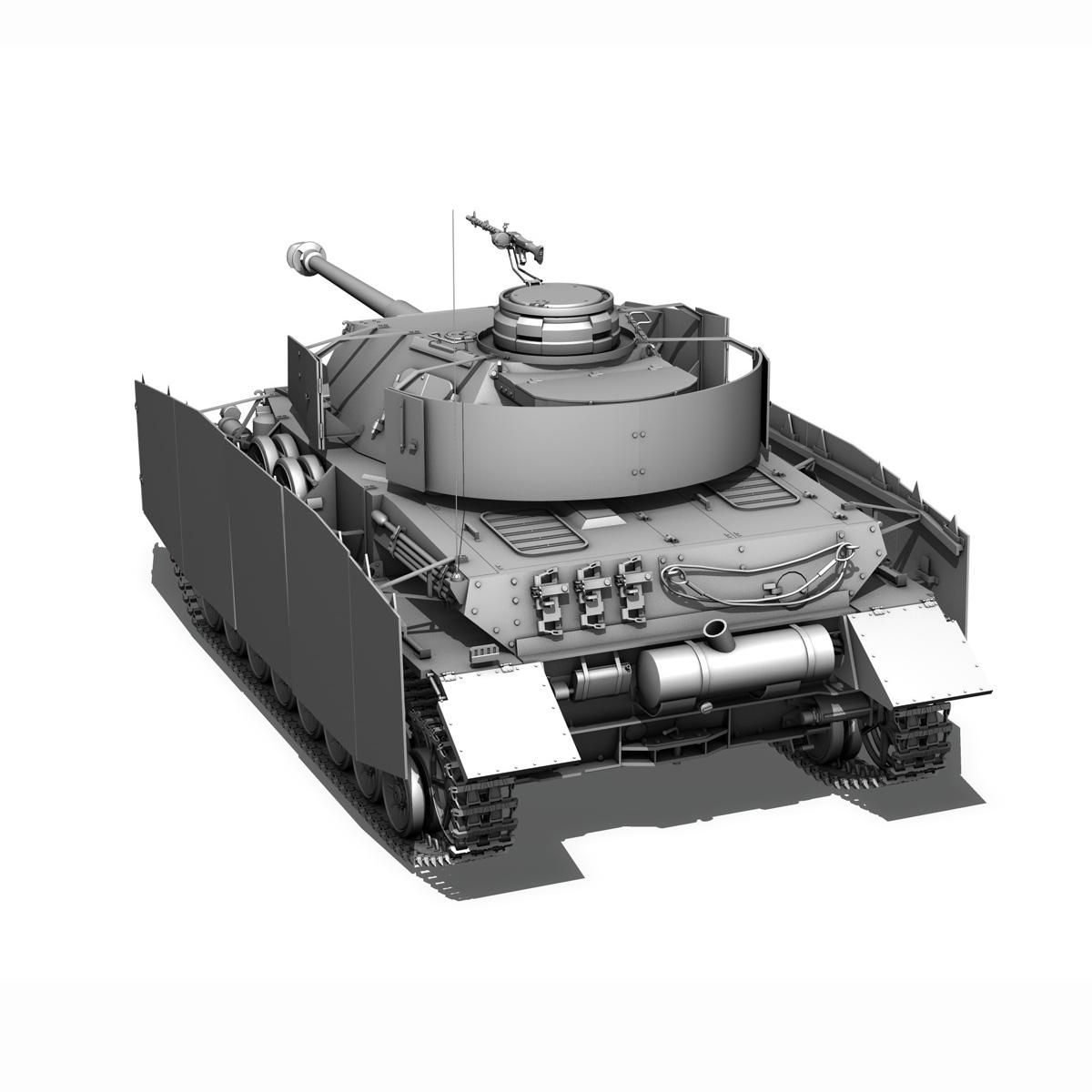 sd.kfz 161 pzkpfw iv - panzer 4 - ausf.h késő 3d modell 3ds fbx c4d lwo obj 190321