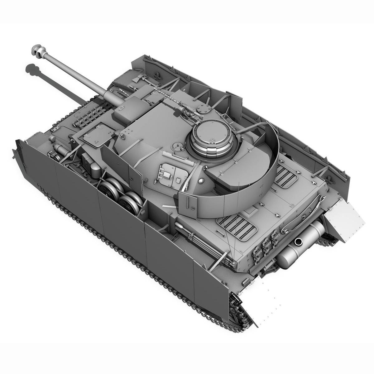 sd.kfz 161 pzkpfw iv - panzer 4 - ausf.h késő 3d modell 3ds fbx c4d lwo obj 190322
