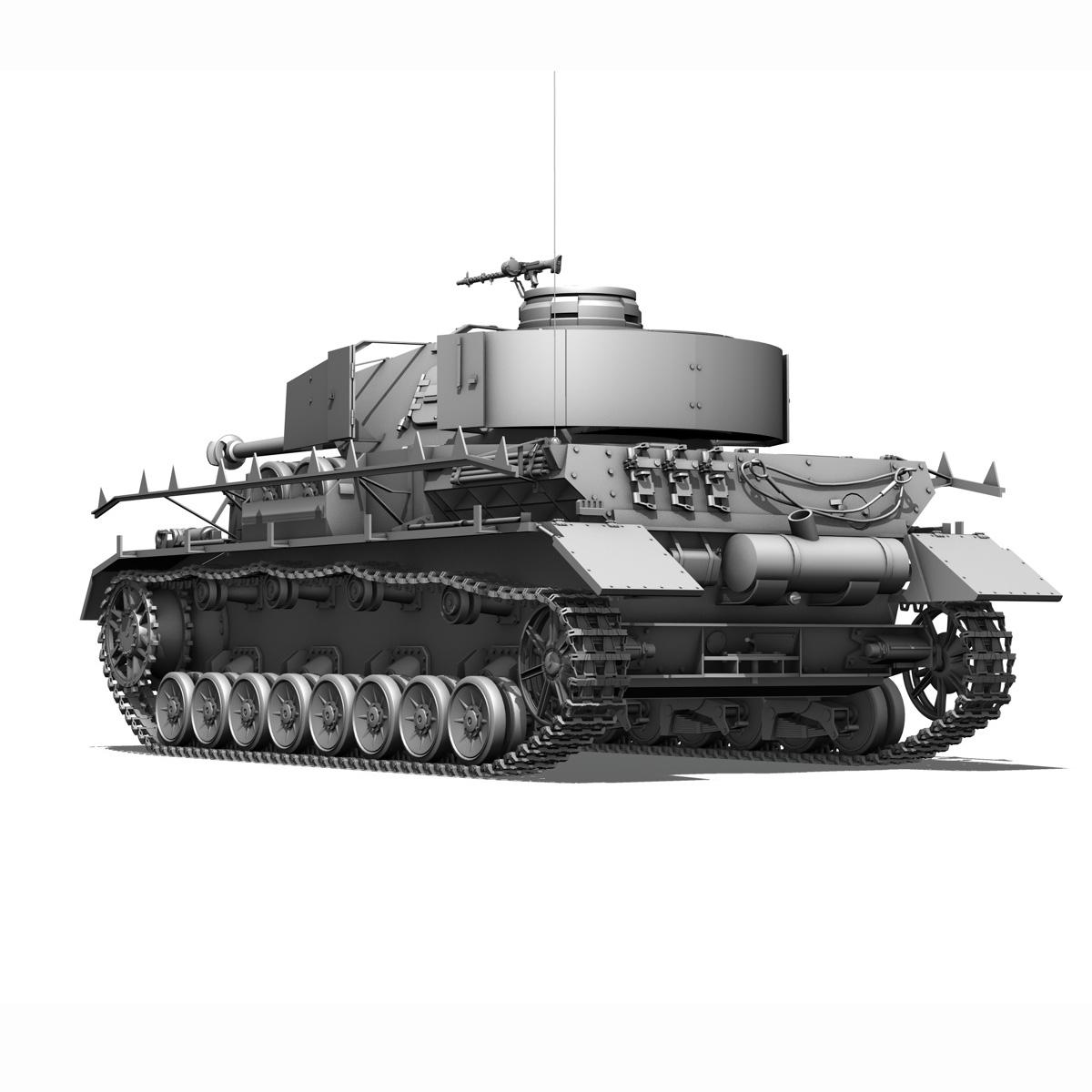 sd.kfz 161 pzkpfw iv - panzer 4 - ausf.h késő 3d modell 3ds fbx c4d lwo obj 190323