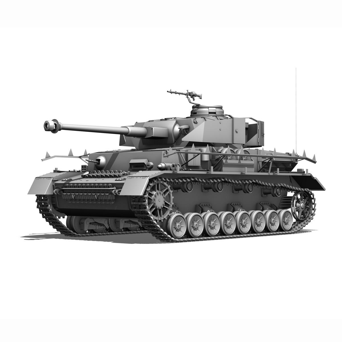 sd.kfz 161 pzkpfw iv - panzer 4 - ausf.h késő 3d modell 3ds fbx c4d lwo obj 190324
